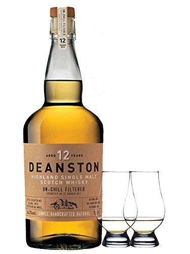 Deanston 12 Jahre Single Malt Whisky 0,7 Liter + 2 Glencairn Gläser