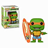 Funko Pop Television : Teenage Mutant Ninja Turtles - Michelangelo with Surfboard (SDCC 2020 Exclusive) 3.75inch Vinyl Gift for Anime Fans SuperCollection