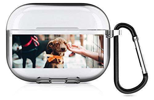 Diseña tu propia funda Airpods con foto y texto personalizados, cubierta de TPU suave que es compatible con la funda Airpod Pro (transparente).