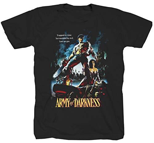 Army of Darkness Horror Film Halloween Evil Dead Braindead ES schwarz T-Shirt Shirt XL