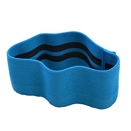 Yoga banda de tensión cadera cadera banda elástica anillo de tensión abuso anillo de cadera en cuclillas con anillo de resistencia dispositivo de tensión banda de resistencia azul claro solo M (76CM)