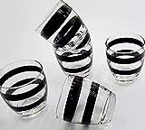 Pagano home 6 bicchieri per acqua / wisky colore nero in vetro modello Aurora nero black