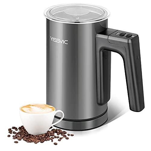 montalatte elettrico 3 in 1 YISSVIC Montalatte Elettrico 3 in 1 300ml 550W Schiumatore in Acciaio Inox con Rivestimento Antiaderente per Caffè