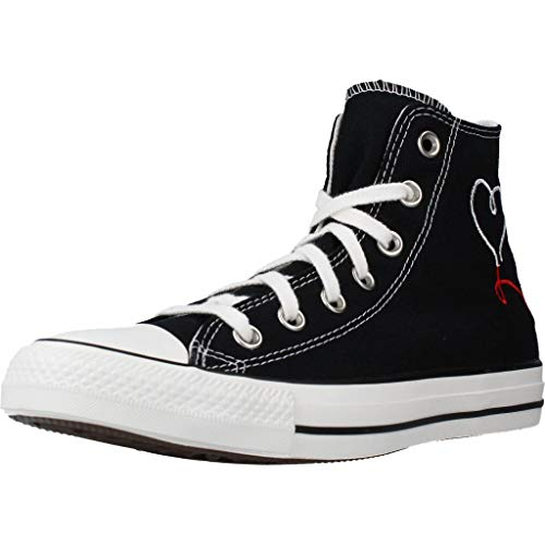 Converse Chuck Taylor all Star Valentine's Day Hi Sneakers Donne Nero - 38 - Sneakers Alte Shoes