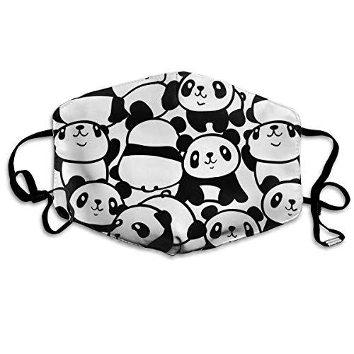 Lovely Panda Modieuze oorloop mondmasker voor kinderen jongeren mannen vrouwen winter zomer