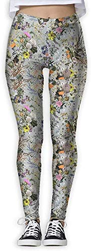 Irener Yoga-Hosen-Sport-Trainingsgamaschen Oil Painting Flower Provide Women with High-Waisted, Ultraweiche leichte Gym Yoga Leggings
