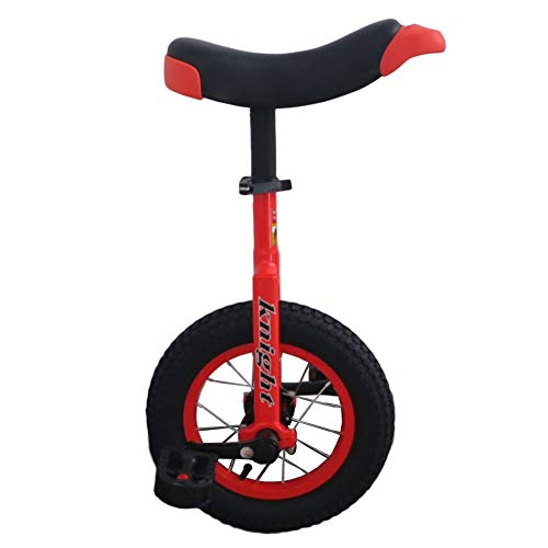 """HWF Small 12"""" Unicycle, Perfect Starter Beginner Uni-Cycle, for 5 Year Old Smaller Children/Kids/Boys/Girls, 4 Colors Optional (Color : Red, Size : 12 Inch Wheel)"""