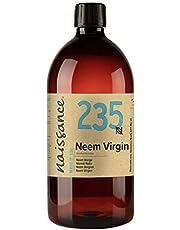 Naissance Aceite Vegetal de Neem 1 Litro - 100% puro, virgen, prensado en frío, vegano y no OGM