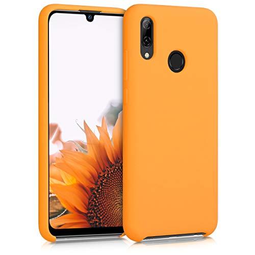 kwmobile Custodia Compatibile con Huawei P Smart (2019) - Cover in Silicone TPU - Back Case per Smartphone - Protezione Gommata Giallo Zafferano
