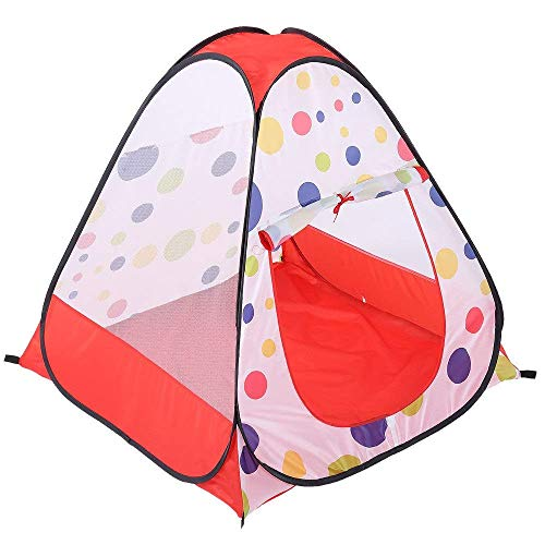 Kids Tent,Kids Teepee Tent Children's Breathable Room Decoration Pop-up Tent Castle Game Tent dot dot Mesh toy House Tent Male With Handbag Indoor and Outdoor Use (Color : C1, Size : 95x95x92cm) f