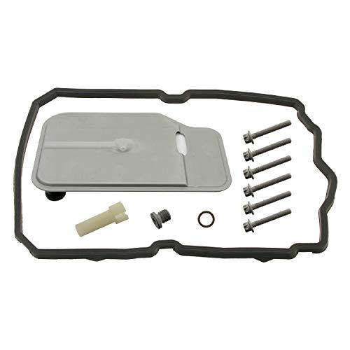 febi bilstein 100250 Getriebeölfiltersatz für Automatikgetriebe, mit Ölwannendichtung und Überlaufrohr , 1 Stück