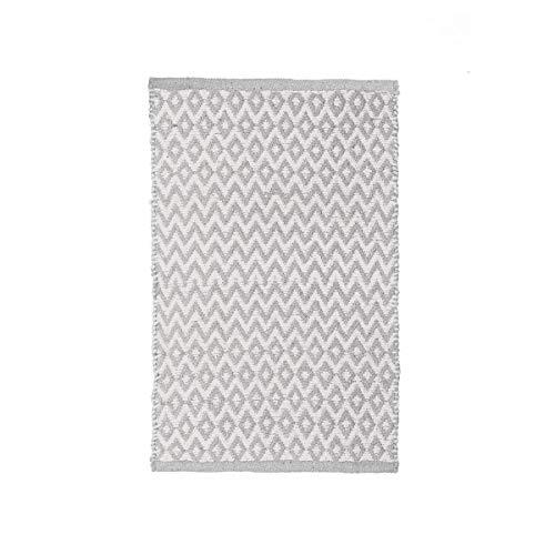 Alfombra pie de Cama Gris de algodón de 80x50 cm - LOLAhome