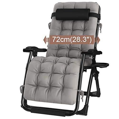 Premium Zero Gravity Padded Chair Verstelbare Opvouwbare Ligstoel met Bekerhouder en Hoofdkussen Voor Binnen Woonkamer Patio Serre Deck