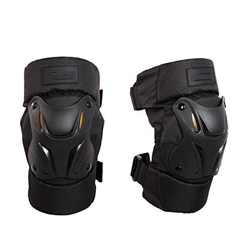 NBWS Rodilleras profesionales cómodas correas dobles con cierre de velcro, color negro