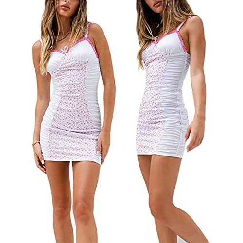 2021 Fashion Trend Women's Sleeveless Print Sling Dress Fitting Mini Sleepwear Summer Casual Leisure Wear