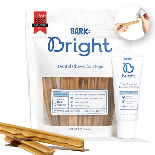 Barkbox Bright Dental Chews 1-Month Supply | Vet Recommended Enzymatic Toothpaste & Chew | Small,...