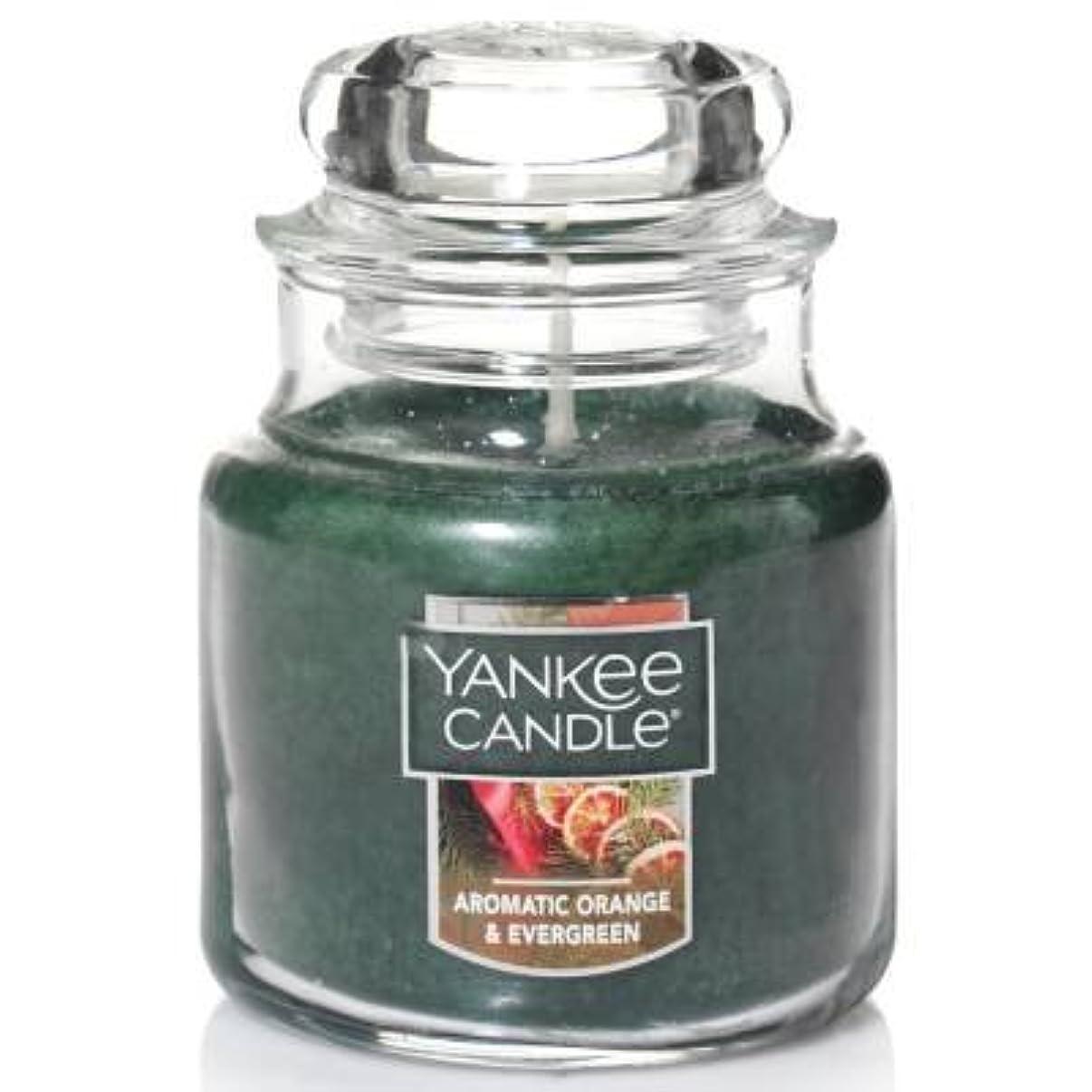 配偶者飢えた泥Yankee Candle Aromaticオレンジ& Evergreen Small Jar Candle