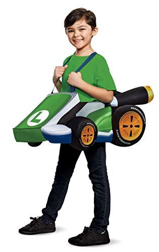 Disguise Luigi Kart Super Mario Bros Costume for Kids