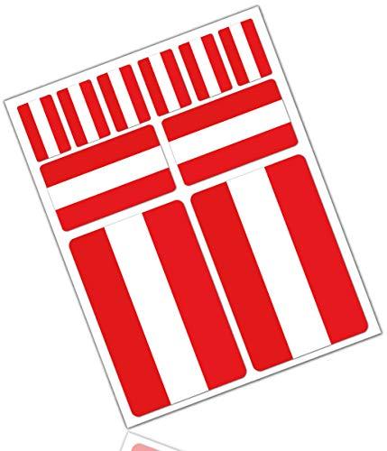 Biomar Labs® 10 x Vinyl Aufkleber Autoaufkleber Stickers Fahne Flagge Austria Österreich Österreichisch Auto Moto Motorrad Fahrrad Scooter Fenster D 26