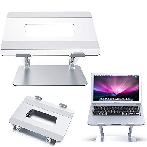 Worth having - Soporte para portátil con ventilación por calor, sentarse ergonómico para soportar soporte portátil convertidor, ajustable y plegable de aluminio múltiples ángulos Riser para laptop par