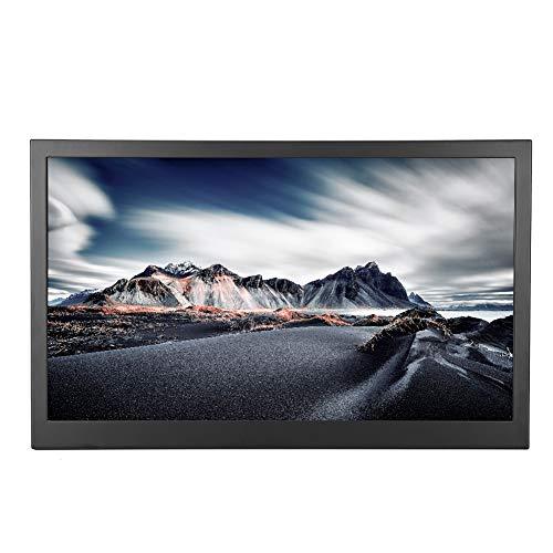 4K-Monitor-Display, ultradünner 15,6-Zoll-3840 * 2160-UHD-Weitwinkel-Bildschirm, Wärmeableitung, 2 HDMI-Anschluss + DP-Anschluss, Zweiwege-Netzteil, für PS3/PS4/Xbox360 usw.(EU-Stecker)