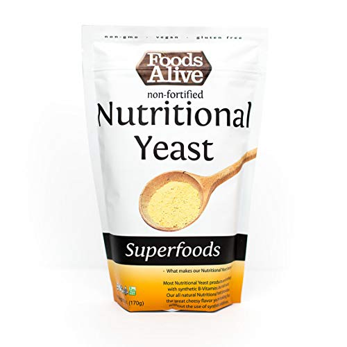 Nutritional Yeast Flakes | Non-Fortified, Plant Based Protein, Vegan Cheese Powder Substitute, 6oz (Single Pack)