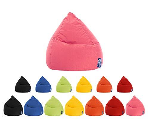 lifestyle4living Sitzsack für Kinder und Jugendliche, Rosa, Microfaser Bezug, pflegeleichter und bequemer Beanbag Easy L Liegesack 120 l