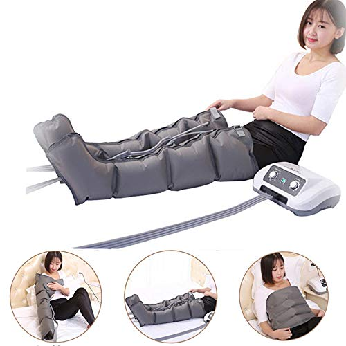 Buy Discount Air Sequential Compression Leg Massager Active Leg & Foot Massage 6 Chamber - Easy Hand...
