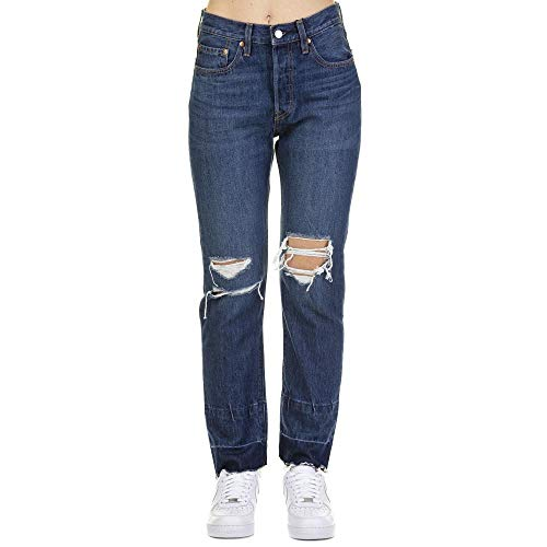 LEVI'S Women - 501® Original Cropped Jeans in dark blue denim - Size 27