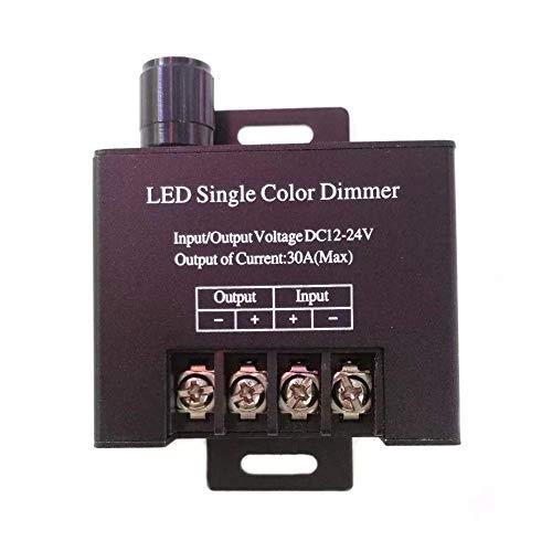 DJY-JY DC12V 24V 30A solo color LED tira de luz regulador regulador con interruptor de perilla
