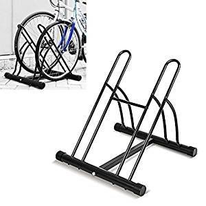 Femor Soporte para Bicicletas, Soporte Bicicletas Suelo(Set de 2 ), Colocar en Garaje, Parqueo y Casa, Prevenir la oxidación, 58 x 55 *x56 cm, Negro