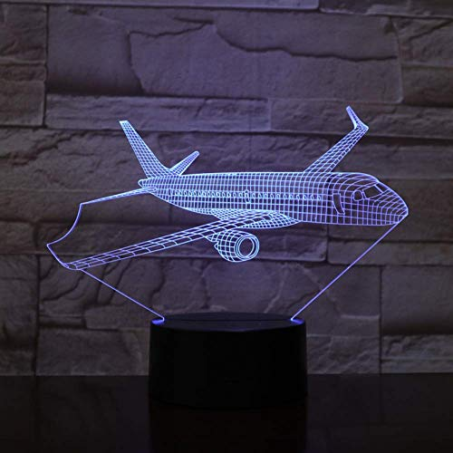 3D Illusion Night Light 3D Airplane Model USB 3D Led Night Light Illusion Lamp Aeroplane Kids Gift Passenger Plane Table Lamp Bedside Gift Xi444