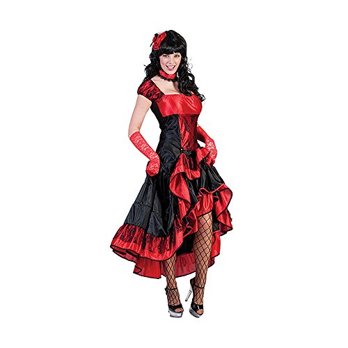 Kostümplanet® Western-Kostüm Damen Karnevals Kostüm Saloon Girl Größe 44/46