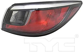 CarLights360: Fits 2017 2018 Toyota Yaris iA Tail Light Assembly Passenger Side (Right) DOT Certified w/Bulbs Halogen Type - Replacement for TO2805127