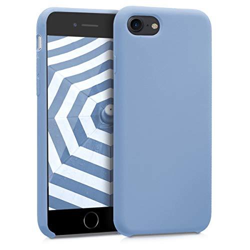 kwmobile Funda Compatible con Apple iPhone 7/8 / SE (2020) - Carcasa de TPU para móvil - Cover Trasero en Azul Claro Mate