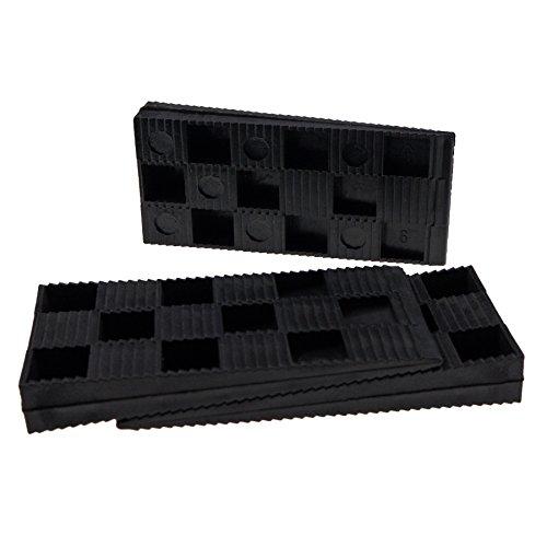 100 Stück Montagekeile Kunststoff Keile Fensterkeile Verlegekeile Unterlegkeil, 94x43x14 mm