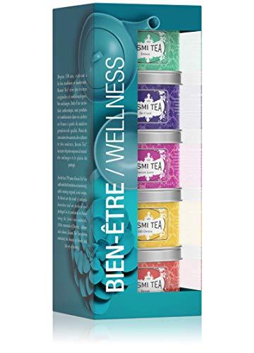 Kusmi Tea Geschenkset Wellness Tee Mischungen - 5 Mini Metalldosen mit Kräutertee und Aromatisiertem Tee - Detox Tee, BB Detox, Boost, Sweet Love, Be Cool - 5 x 25 gr Teedosen