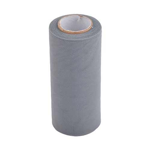 uxcell Lady Polyester Handmade Sewing Dress Tutu Tulle Spool Roll 6 Inch x 25 Yards Gray