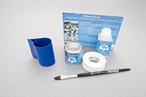 Set: Rutenhalter Lasche + Kleber Kit, zum aufkleben für Schlauchboote (Blau)