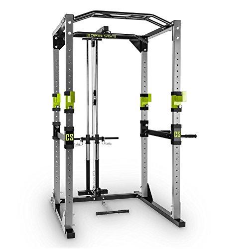 Capital Sports Tremendour - Power Rack, Cage Squat, Station de Musculation, 2 x Safety Spotter: 20 hauteurs, 4 x...