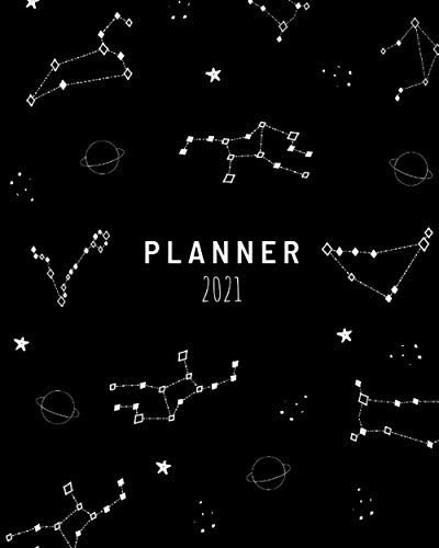 Planner 2021-2022, 8x10, Annual and Daily, WITH WISE QUOTES ON EVERY PAGE, for Women, for Men, Stars, Astronomy, Saturn Sky, Cloud, Colorful, Cosmos, Astro: Global Printed Products (Wise Planners)
