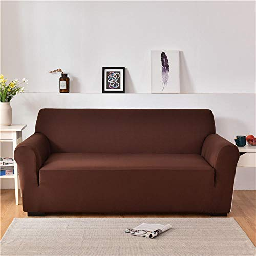 Allenger 1 Protector Elástico para Muebles,para Sala De Estar, Seccional En Forma De L, Esquina, Sofá, Cubierta, Protector De Silla, Marrón_90-140Cm