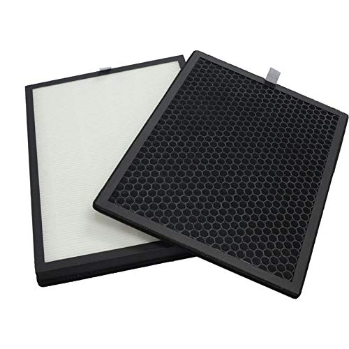 PUREBURG Replacement HEPA Filter and Charcoal Based Activated Carbon Filter Compatible with Green Air Encore Air Purifier