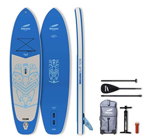 INDIANA Paddle & Surf Indiana Sup Inflatable Board Allround Placa Hinchable, Unisex Adulto, Azul, 10'6'' / 320 cm