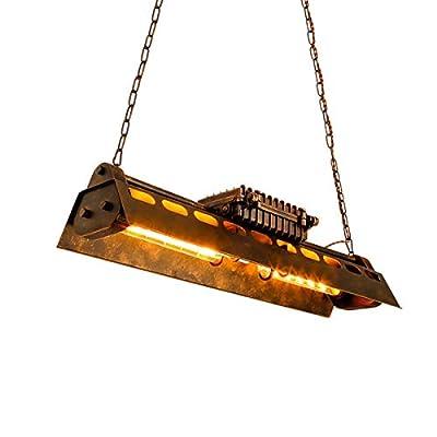Industrial Retro Pendant Lighting Metal Wrought Iron Rustic Chandelier Adjustable Vintage Hanging Ceiling Lamp Fixture 4 Light Edison for Kitchen Island Farmhouse Living Room Bedroom Restaurant