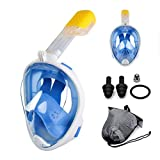LWXXXA Máscara de Buceo de natación, máscara de Snorkel de Cara Completa antiniebla, máscara de Buceo de Snorkel con visualización panorámica de 180 °, Impermeable Seguro, Adulto Adecuado