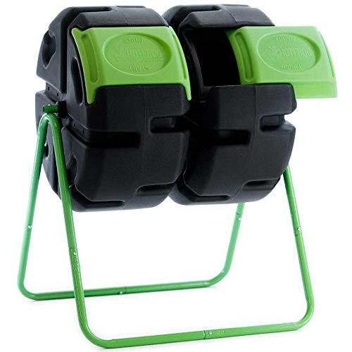 Purchase Outdoor 37 Gallon Plastic Dual Body Rotating Tumbling Composter Bin | Baga Goodies