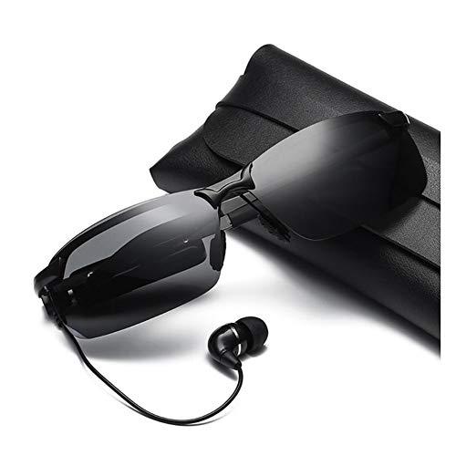JINHU Bluetooth Lentes Gafas De Sol con Conexión Inalámbrica con Función De Auricular Estéreo Gafas De Sol con IA Luz Polarizada Gafas De Sol Usado para Manos Libres Audio Musical, B