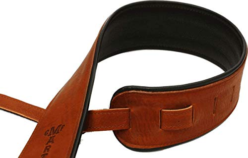 Martin Premium Rolled Leather Guitar Strap - Brown