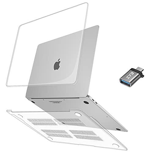 ZYB Funda para MacBook Air 13 Pulgadas 2020 2019 2018 | Modelo M1 A2337 A2179 A1932, Súper Delgada Carcasa Rígida Cubierta Dura de Plástico para Mac Book Air 13 con Touch ID, Transparente